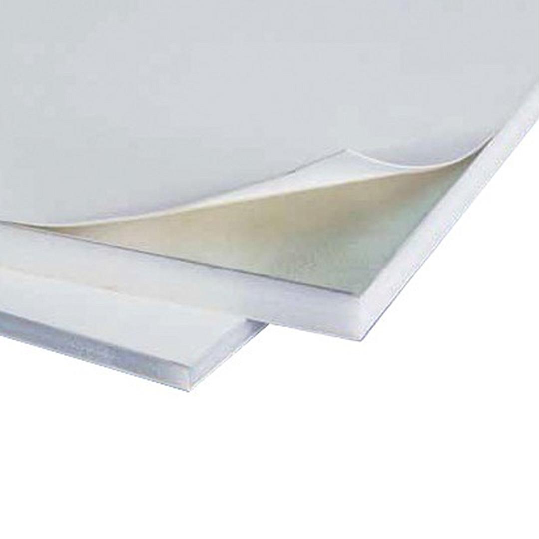 Cartón Pluma Blanco Aluminio Adhesivo