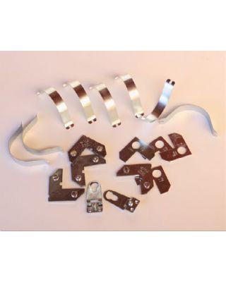 Kit montaje de aluminio sin flejes  - 100 unidades