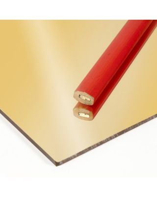 Plancha de Metacrilato Oro Espejo Extrusión 3mm - 305X205cm